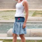 LaJuPe vzorovaná sukně bavlna_viskóza_bez_podšívky_bleděmodrá_černomodrobílá_skládaná_bez_kapes_tunýlek_modrá_červenomodrá_čtverec_tři čtverce