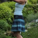 LaJuPe dlouhé sukně bavlna_polyester_bez_podšívky_modrá_bleděmodrá_skládaná_bez_kapes_tunýlek_modrá_modrá_terč