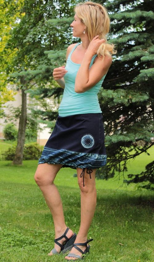 LaJuPe dívčí džínová sukně bavlna_polyester_bez_podšívky_modrá_bleděmodrá_se_sedlem_dole_1kapsa_tunýlek_modrá_modrá_terč