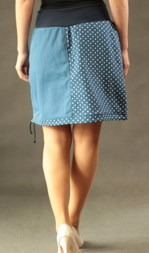 LaJuPe dlouhá sukně bavlna_polyester_bez_podšívky_modrá_bílá_půlená_1kapsa_tunýlek_modrá_modrá_kytka