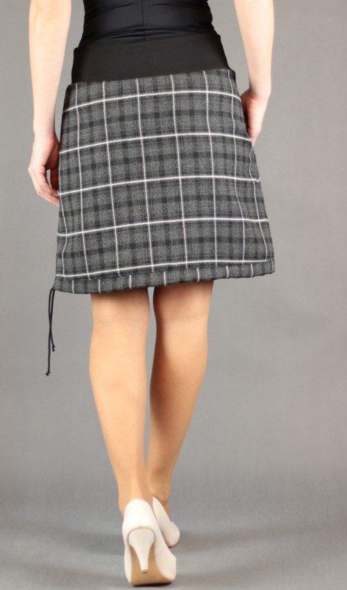 LaJuPe sukně teplá polyester_viskóza_s_podšívkou_antracit_černá_áčková_1kapsa_tunýlek_černá_šedočerná_kalich_kalich