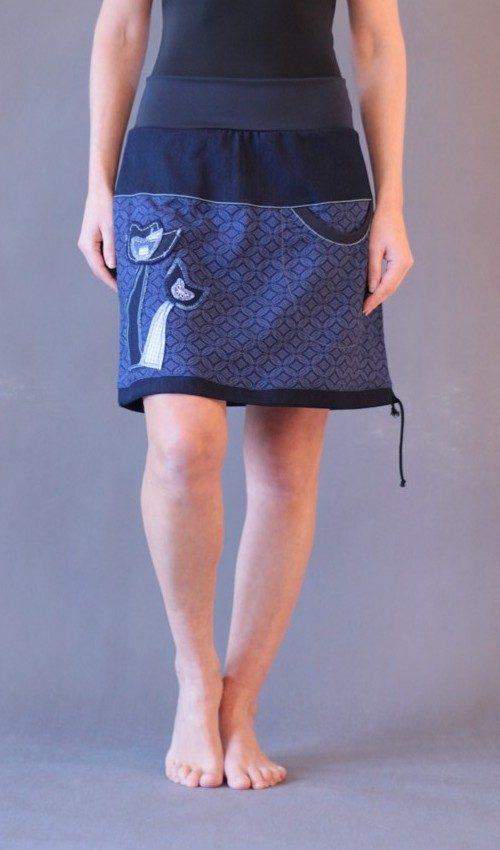 LaJuPe dámská sukně bavlna_polyester_bez_podšívky_modrá_modrá_áčková_1kapsa_tunýlek_tmavěmodrá_modrá_tulipán_vtulipánu