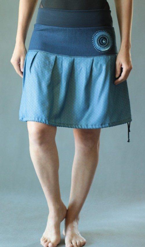 LaJuPe sukně do áčka bavlna_elastan_bez_podšívky_modrá_modrá_se_sedlem_nahoře_bez_kapes_tunýlek_modrá_modrá_terčík_terčík