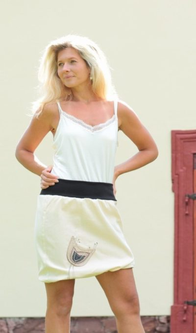 LaJuPe béžová sukně riflová