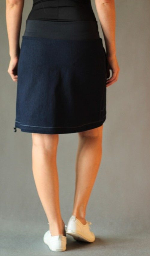 LaJuPe volnočasové sukně bavlna_polyester_bez_podšívky_modrá_růžová_áčková_1kapsa_tunýlek_modrá_růžovomodrá_kytka_šestikvět