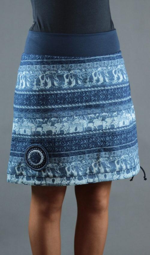 LaJuPe áčkové sukně bavlna_polyester_bez_podšívky_modrá_bílá_áčková_1kapsa_tunýlek_modrá_modrobílá_terč_fresky