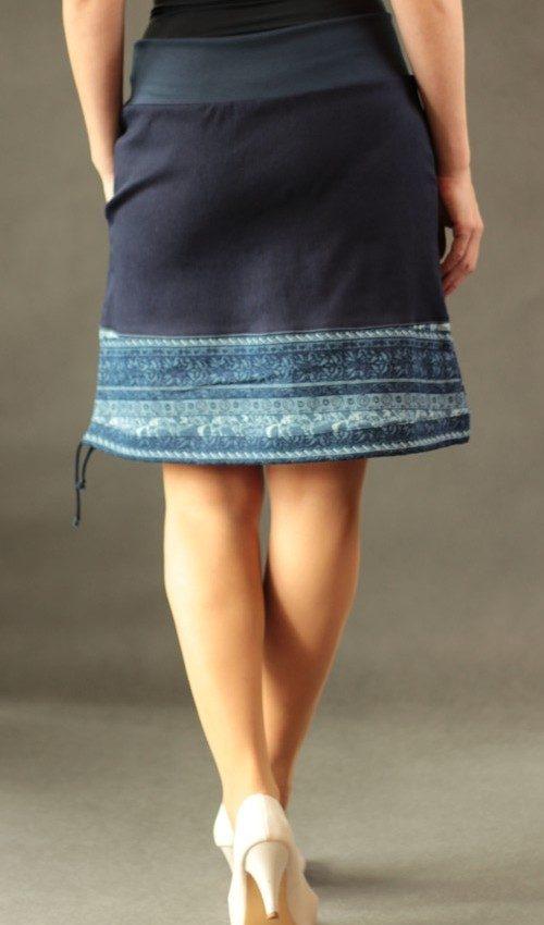 LaJuPe dámské jeans sukně bavlna_polyester_bez_podšívky_modrá_bleděmodrá_se_sedlem_dole_1kapsa_tunýlek_modrá_modrá_mlýn